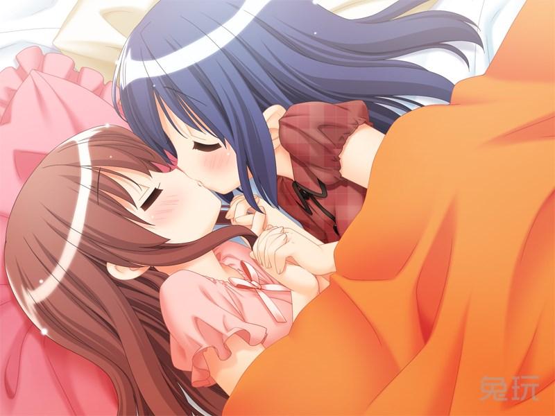 动漫美女百合邪恶图hentai图片:动漫美女百合亲吻