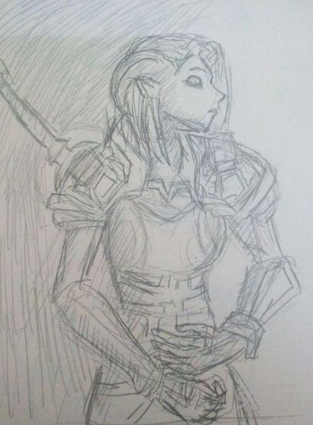 玩家眼中的魔兽世界 手绘的魔兽主题草图(6)