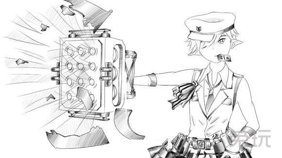 画的还是惟妙惟肖 dnf玩家分享黑白手绘图(14)