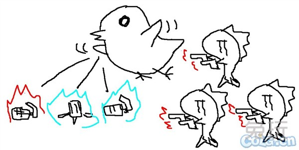 娘漫各种躺枪泪目 玩家恶搞手绘女枪二觉变鲸鱼(2)