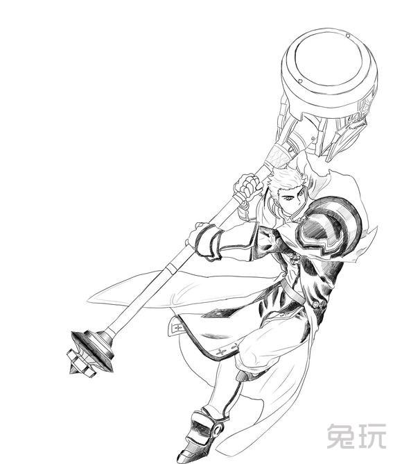 画的还是惟妙惟肖 玩家分享黑白手绘图(8)