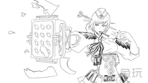画的还是惟妙惟肖 dnf玩家分享黑白手绘图(5)