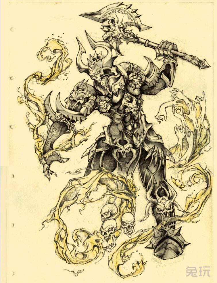 魔兽玩家铅笔手绘画作:侏儒冰法和其他作品(3)