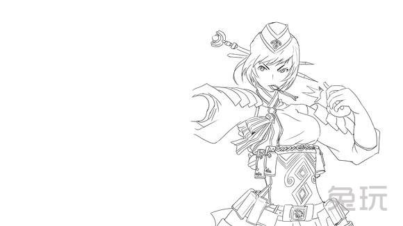 画的还是惟妙惟肖 dnf玩家分享黑白手绘图(4)