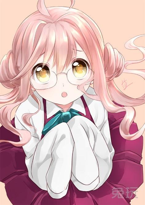 粉红色头发的动漫女孩图片(10)