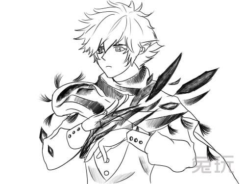 画的还是惟妙惟肖 dnf玩家分享黑白手绘图(2)