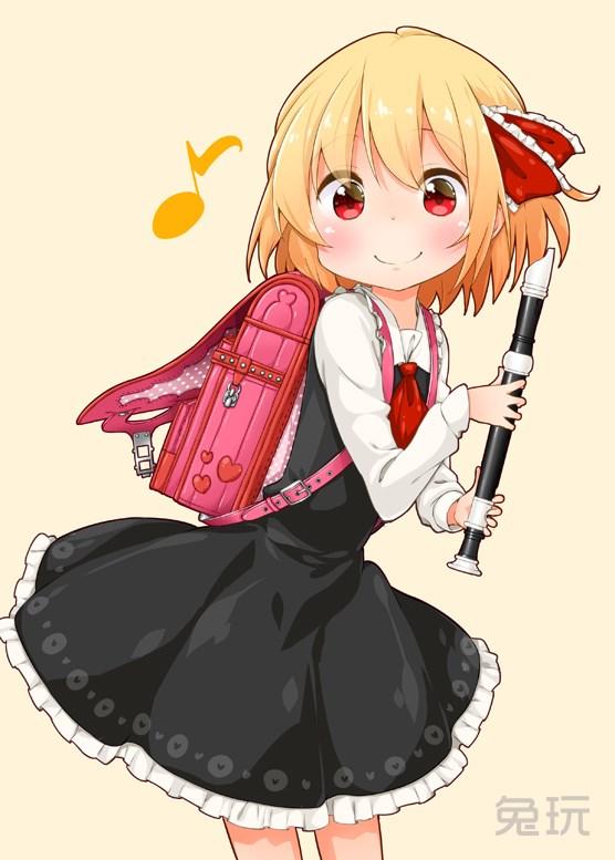 背着书包的二次元美少女福利图 书包娘动漫图片(11)