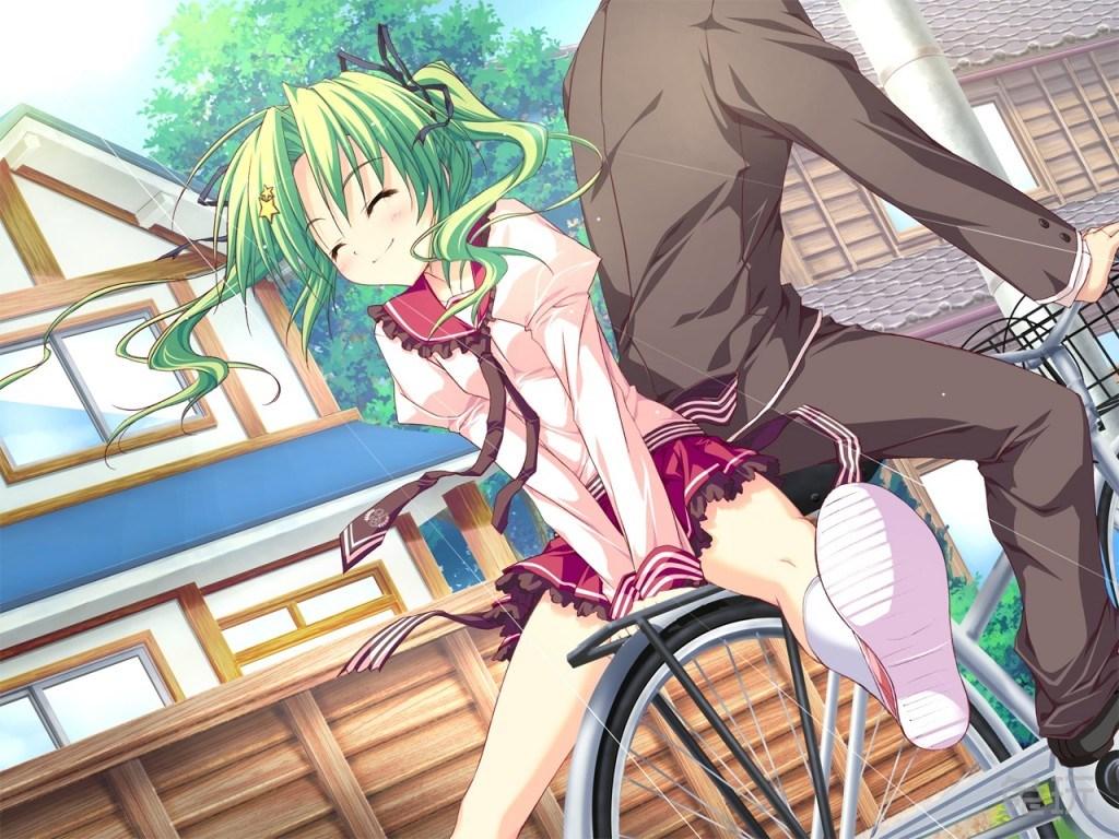自行车娘/骑自行车的动漫女孩图片(4)