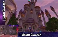 魔兽7.0军团再临:新旧达拉然建筑样貌对比