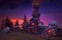 玩家自制魔兽风格3D建筑:矮人熔炉小屋!