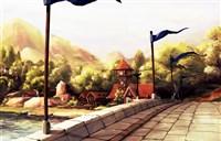 魔兽玩家绘画作品:止水之畔 宁静的湖畔镇