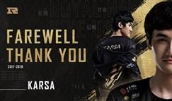 RNG官宣Karsa离队 新赛季小龙堡或将成为首发