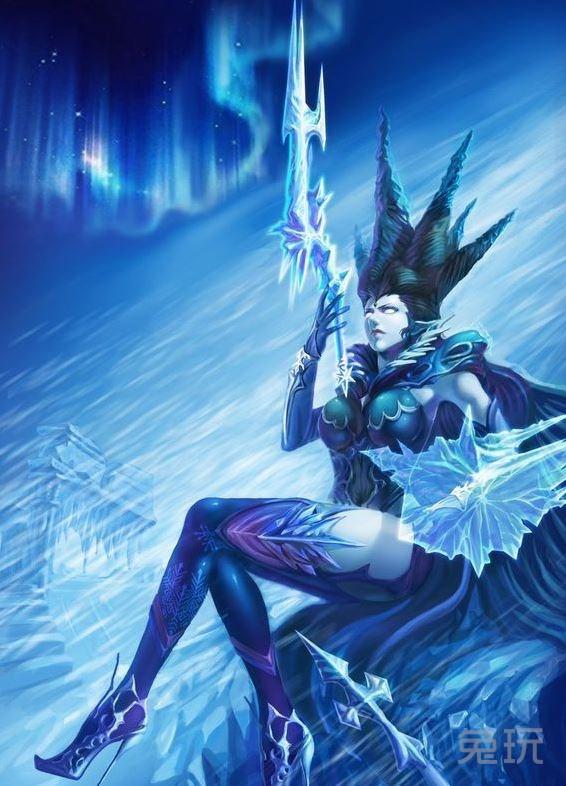 最终幻想14玩家手绘作品 冰之女王希瓦