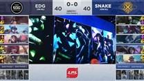 战报:打破主场魔咒 Snake让一追二击败EDG