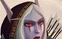 魔兽人物肖像绘画:希尔瓦娜斯·风行者