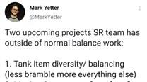Mark Yetter发推:接下来的两个平衡项目