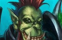 魔兽玩家绘画:兽人战士头像-皮条客式人物