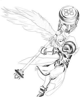 画的还是惟妙惟肖 dnf玩家分享黑白手绘图