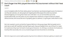 外网热议:RNG甚至没有主教练就打完了MSI