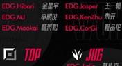 EDG公布2021全球总决赛出征大名单