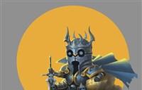 魔兽玩家绘画:Q萌小巫妖王及帅气的沃金