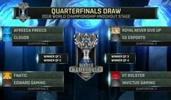 S8淘汰赛分组抽签:LPL无内战 RNG与IG同区