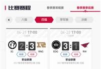 LPL春季赛季后赛第三轮对抗 斗鱼千万观众目送RNG与EDG挺进决赛