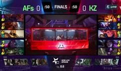 KZ让一追三成功战胜AFs 蝉联韩国LCK冠军!