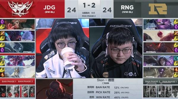JDG书写黑八奇迹 RNG惨遭淘汰遗憾出局
